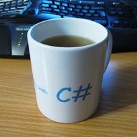 Photograph of a Save the Day with C# Mug
