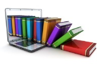 Image of laptop and books