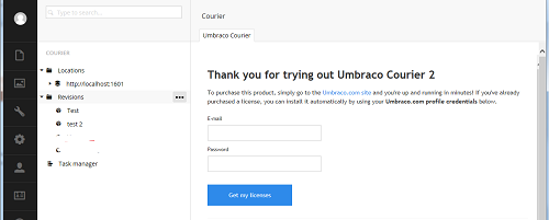 Umbraco Courier Dashboard